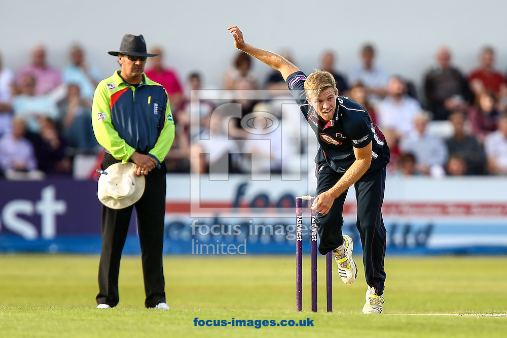 David Willey of Northants Steelbacks during the Natwest T20 Blast match at the County Ground, Northampton<br /> Picture by Andy Kearns/Focus Images Ltd 0781 864 4264<br /> 11/07/2014