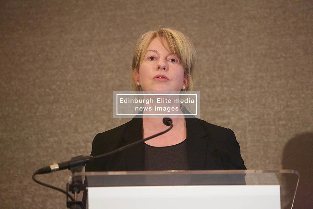 Scottish Secretary for Health and Sport Shona Robison addresses the Investing Women Ambition & Growth conference at the Sheraton, Edinburgh 080318 photo by Terry Murden @edinburghelitemedia