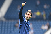 A thumbs up for the Huddersfield Town fans from Huddersfield Town manager Danny Cowley during the EFL Sky Bet Championship match between West Bromwich Albion and Huddersfield Town at The Hawthorns, West Bromwich, England on 22 September 2019.