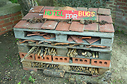 Hotel for bugs, Museum of East Anglian Life, Stowmarket, Suffolk