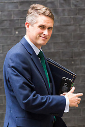 London, October 10 2017. Chief Whip (Parliamentary Secretary to the Treasury) Gavin Williamson attends the UK cabinet meeting at Downing Street. © Paul Davey