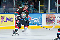 KELOWNA, CANADA - NOVEMBER 6: Mitchell Wheaton #6 of the Kelowna Rockets skates against the Red Deer Rebels on NOVEMBER 6, 2013 at Prospera Place in Kelowna, British Columbia, Canada.   (Photo by Marissa Baecker/Shoot the Breeze)  ***  Local Caption  ***