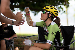 A little gelato treat for Sheyla Gutierrez (Cylance Pro Cycling) ahead of the final stage of the Giro Rosa 2016 on 10th July 2016. A 104km road race starting and finishing in Verbania, Italy.