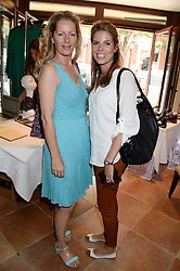 Left to right, JULIET FETHERSTONHAUGH and CATHERINE CADBURY at the Glamorous Girls Summer Sale and Park Walk Street Party, Park Walk, London SW10 on 27th June 2013.