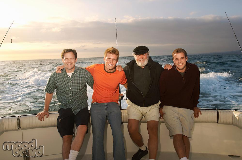 Family on Sport Fishing Boat
