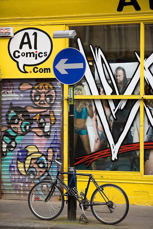 Comic book shop, Glasgow, Scotland, UK