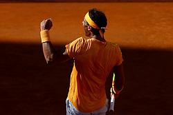 May 19, 2018 - Rome, Italy - Rafael Nadal (SPA) celebrates at Foro Italico in Rome, Italy during Tennis ATP Internazionali d'Italia BNL semi-final on May 19, 2018. (Credit Image: © Matteo Ciambelli/NurPhoto via ZUMA Press)