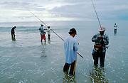Jimbaran Beach. Amateur fishermen.