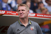 Brentford  Manager Dean Smith  during the EFL Sky Bet Championship match between Huddersfield Town and Brentford at the John Smiths Stadium, Huddersfield, England on 6 August 2016. Photo by Simon Davies.