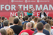 Angela Rayner, Shadow Secretary of State for Education at a rally in the  Stroud district supporting Labour candidate David Drew during the Labour Party Election Campaign at the New Lawn, Forest Green, United Kingdom on 31 May 2017. Photo by Shane Healey.