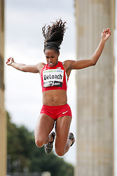 "05.09.2015, Brandenburger Tor, Berlin, GER, Leichtathletik Meeting, Berlin fliegt, im Bild Janay DeLoach (USA) // during the Athletics Meeting ""Berlin flies"" at the Brandenburger Tor in Berlin, Germany on 2015/09/05. EXPA Pictures © 2015, PhotoCredit: EXPA/ Eibner-Pressefoto/ Fusswinkel<br /> <br /> *****ATTENTION - OUT of GER*****"