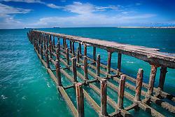 Ponte dos Ingleses, também conhecida como Ponte Metálica, foi inaugurada em 1923 na na praia de Iracema, em Fortaleza - CE. FOTO: Jefferson Bernardes/ Agência Preview