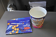 in-flight snack on board a Trade Air Airbus A320-200 from Batumi to Tel Aviv