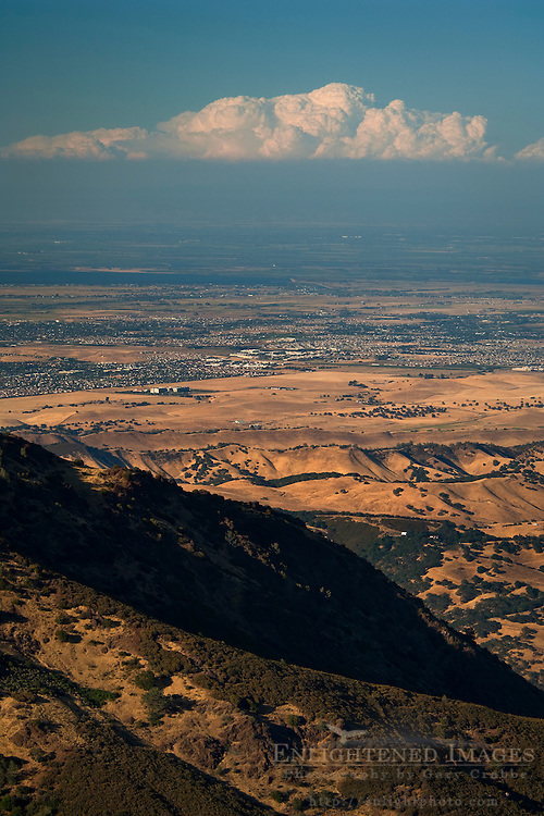 Overlooking the Sacramento - San Joaquin River Delta and Central Valley from the summit of Mount Diablo, Mount Diablo State Park, California