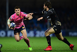 Henry Slade of Exeter Chiefs makes a break - Mandatory by-line: Alex Davidson/JMP - 13/01/2018 - RUGBY - Sandy Park Stadium - Exeter, England - Exeter Chiefs v Montpellier - European Rugby Champions Cup