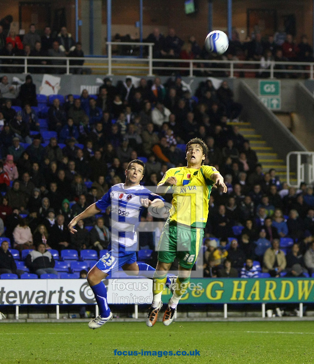 Reading - Saturday November 13th, 2010: Chris Martin of Norwich has a late chance to win it but sees his header narrowly miss the target during the Npower Championship match at The Madejski Stadium, Reading. (Pic by Paul Chesterton/Focus Images)
