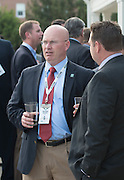 George Smalley, a 2010 graduate of the professional masters of sport administration program, at the Charles R. Higgins Distinguished Alumnus Award Banquet outside of Nelson Commons. © Ohio University/ Photo by Kaitlin Owens sport administration program, at the Charles R. Higgins Distinguished Alumnus Award Banquet outside of Nelson Commons. © Ohio University/ Photo by Kaitlin Owens