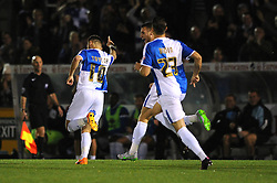 Matt Taylor of Bristol Rovers celebrates with his team mates after scoring - Mandatory byline: Dougie Allward/JMP - 07966 386802 - 06/10/2015 - FOOTBALL - Memorial Stadium - Bristol, England - Bristol Rovers v Wycombe Wanderers - JPT Trophy