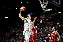 April 29, 2018 - Milan, Milan, Italy - Arturas Gudaitis (#77 EA7 Emporio Armani Milano) catch a rebound during a basketball game of Poste Mobile Lega Basket A between  EA7 Emporio Armani Milano vs VL Pesaro at Mediolanum Forum, in Milan, Italy, on April 29, 2018. (Credit Image: © Roberto Finizio/NurPhoto via ZUMA Press)