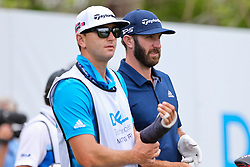 March 29, 2019 - Austin, Texas, United States - Dustin Johnson (R) and his caddie Austin Johnson wait on the 15th tee during the third round of the 2019 WGC-Dell Technologies Match Play at Austin Country Club. (Credit Image: © Debby Wong/ZUMA Wire)