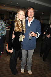 FLORENCE BRUDENELL-BRUCE and IAIN RUSSELL at a party to celebrate the publication of Lisa B's book 'Lifestyle Essentials' held at the Cook Book Cafe, Intercontinental Hotel, Park Lane London on 10th April 2008.<br />