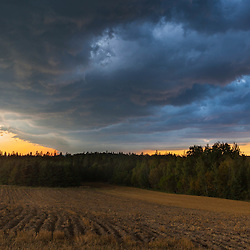 Summer storm at sunset in Mars Hill, Maine.