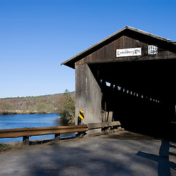The Mount Orne Covered Bridge which spans the Connecticut River between Lunenburg Vermont and Lancaster New Hampshire USA