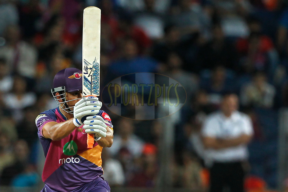 MS Dhoni of Rising Pune Supergiant bats during match 39 of the Vivo 2017 Indian Premier League between the Rising Pune Supergiants and the Gujarat Lions held at the MCA Pune International Cricket Stadium in Pune, India on the 1st May 2017<br /> <br /> Photo by Deepak Malik - Sportzpics - IPL