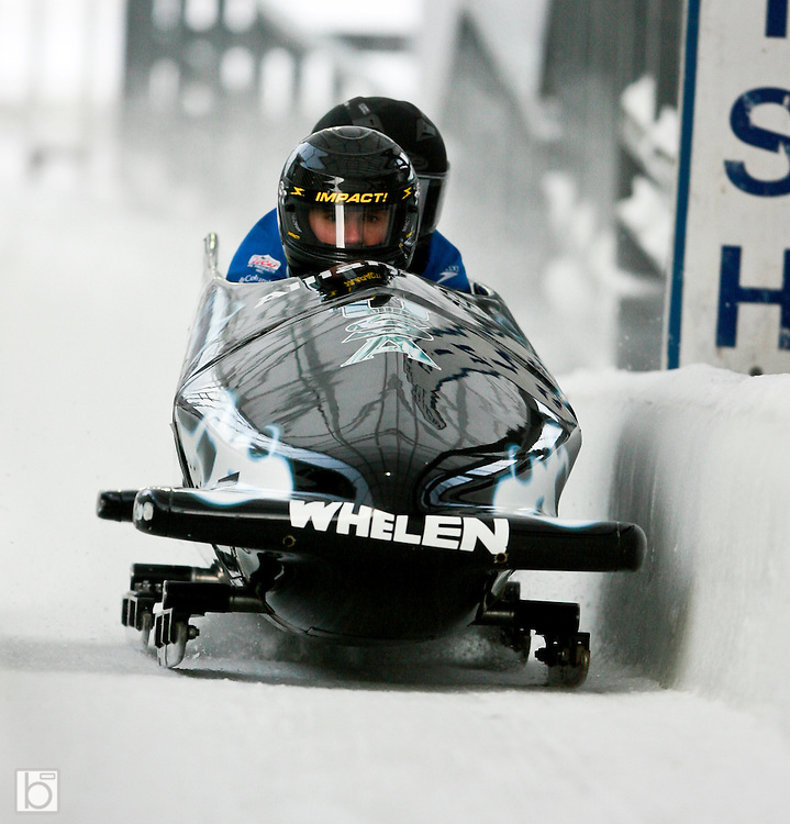 at the Fourth Annual Whelen Geoff Bodine Bobsled Challenge featuring drivers from both NASCAR and the NHRA in Lake Placid, N.Y. Sunday, Jan 4, 2009.
