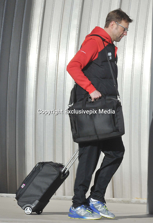 EXCLUSIVE<br /> MELWOOD AND THE LIVERPOOL SQUAD HAVE SET OFF FROM THEIR MELWOOD TRAINING GROUND TO LONDON AHEAD OF TONIGHTS FA CUP REPLAY AGAINST WEST HAM..... THE REDS BOARDED THE TEAM COACH AT 10-30 AND HEADED FOR JOHN LENNON AIRPORT FOR A 11-15 FLIGHT TO LONDON CITY AIRPORT.....KLOPP THIS MORNING AFTER HIS SURGERY <br /> &copy;Exclusivepix Media