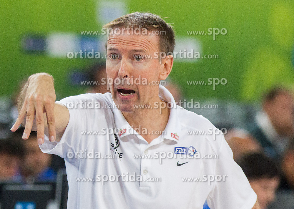 Vincent Collet, head coach of France during basketball match between National teams of Slovenia and France in Quarterfinals at Day 15 of Eurobasket 2013 on September 18, 2013 in Arena Stozice, Ljubljana, Slovenia. (Photo by Vid Ponikvar / Sportida.com)