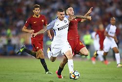 August 26, 2017 - Rome, Italy - Mauro Icardi of Internazionale and Kostas Manolas of Roma  during the Serie A match between AS Roma and FC Internazionale at Olimpico Stadium in Rome, Italy, on August 26, 2017. (Credit Image: © Matteo Ciambelli/NurPhoto via ZUMA Press)
