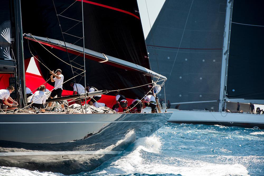 Bermuda, 14th June 2017. America's Cup Superyacht regatta. J Class race Two. Svea JS1 and Ranger J5