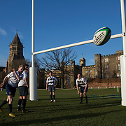 "Pupils take part in rugby practice on the playing fields of Rugby School in central England, January 20, 2015.  The public school, founded in 1567 was amongst the first ""Public"" schools in England. The school is known as the home of rugby. Local legend  states that in 1823 pupil William Webb Ellis first ran with the ball inventing the game of rugby football which took its name from the school. In 2015 20 countries will compete in the Rugby World Cup which is hosted by England REUTERS/Neil Hall"