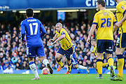 Scunthorpe's Stephen Dawson on the ball during the The FA Cup third round match between Chelsea and Scunthorpe United at Stamford Bridge, London, England on 10 January 2016. Photo by Shane Healey.