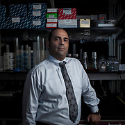Dr. Charbel Moussa inside his laboratory at Georgetown University, on Wednesday, August 17, 2016.  Dr. Moussa is investigating new therapeutic treatments for Parkinson's, Alzheimer and other related diseases.  John Boal photo/for STAT