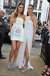 Left to right, AMBER LE BON and YASMIN LE BON at the Glamour Women of the Year Awards 2012 in association with Pandora held in Berkeley Square Gardens, London W1 on 29th May 2012.