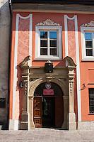 Building facade on Ulica Kanonicza in Krakow Poland