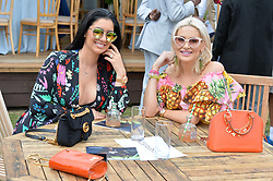Andrea Smith and Stephanie Pratt at the Laureus King Power Cup polo match held at Ham Polo Club, Richmond, London England. 22 June 2017.<br /> Photo by Dominic O'Neill/SilverHub 0203 174 1069 sales@silverhubmedia.com