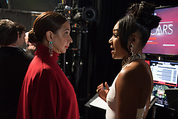March 4, 2018 - Hollywood, California, U.S. - Tiffany Haddish and Maya Rudolph backstage during the live ABC Telecast of The 90th Oscars at the Dolby Theatre in Hollywood. (Credit Image: ? Matt Sayles/AMPAS via ZUMA Wire/ZUMAPRESS.com)
