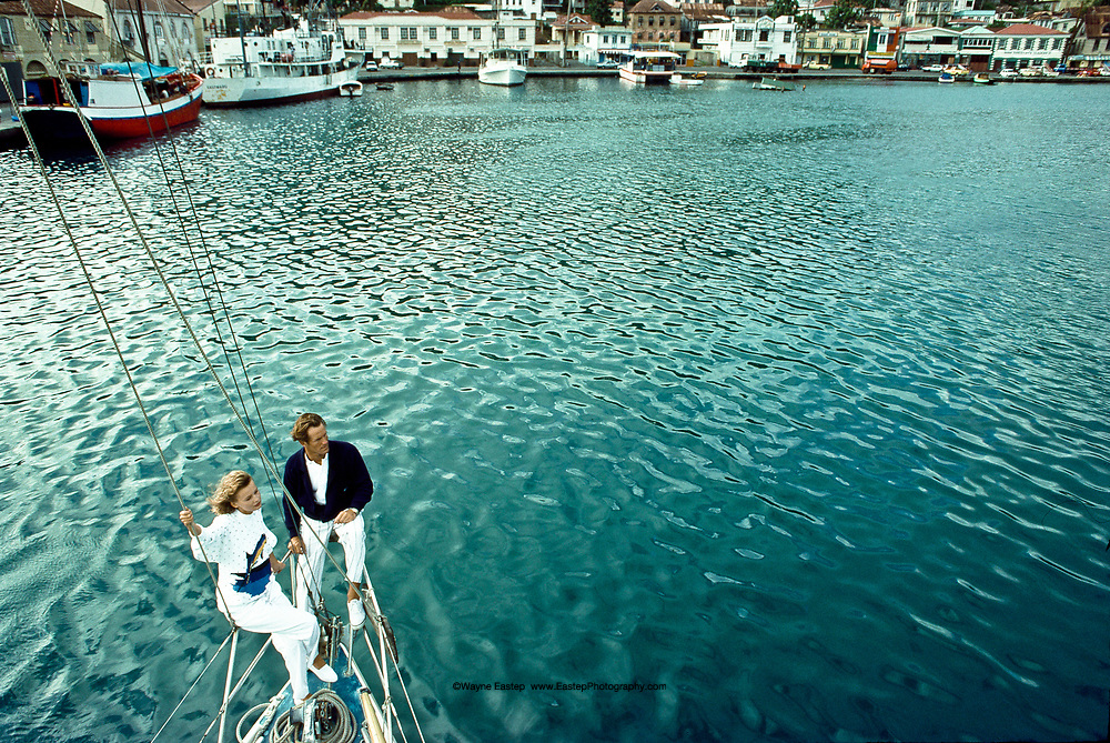 Arriving in St. George's Harbor, Grenada, West Indies - Nautica Brand Campaign