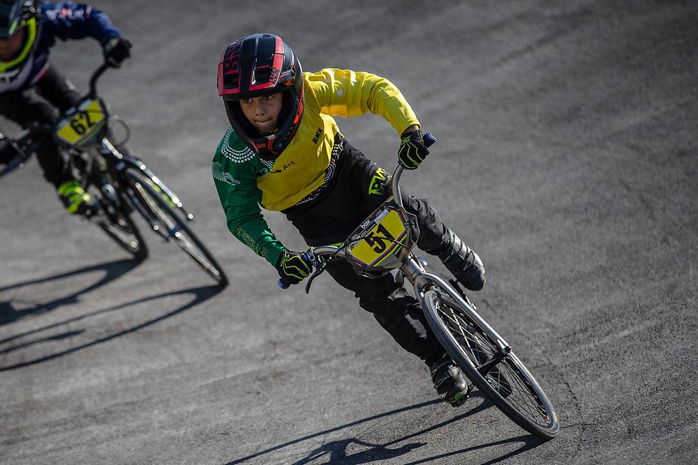 8 Boys #51 (SCHROEDER Eli) AUS at the 2018 UCI BMX World Championships in Baku, Azerbaijan.