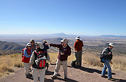 Border BioBlitz, March 3, 2018, Coronado National Memorial, Hereford, Arizona, USA.  Participants take in the view of Mexico as seen from Arizona.