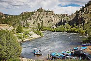 Rafting the Arkansas River at Hecla Junction in Browns Canyon National Monument, Colorado.