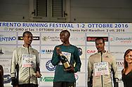 70° Giro al Sas,vince Mande Aballah, secondo Tola Tamirat, e Terzo Edris Muktar, Trento 1 ottobre 2016 © foto Daniele Mosna