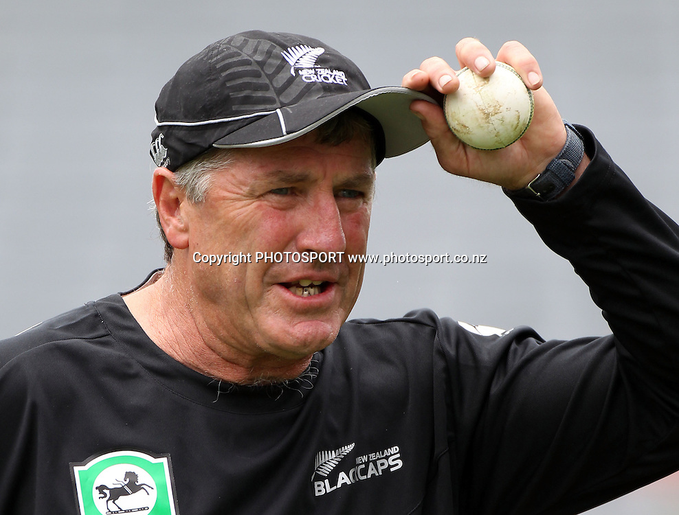 New Zealand coach John Wright. Twenty20 International Cricket match between The New Zealand Black Caps and Pakistan at Eden Park on Boxing Day, Sunday 26 December 2010. Photo: Andrew Cornaga/photosport.co.nz