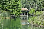 Gazebo on pond