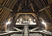 Wooden framework, Basilique Notre-Dame-des-Victoires (Basilica Notre-Dame-des-Victoires), founded in 1629 by King Louis XIII and finalized in 1737 by Sylvain Cartaud, 2nd arrondissement, Paris, France. Picture by Manuel Cohen