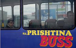 PRISTINA, KOSOVO - DECEMBER 14 - Avtobus