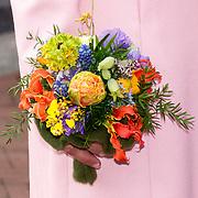 NLD/Groningen/20180427 - Koningsdag Groningen 2018, Bloemenbouqet Prinses Marylene